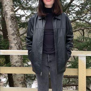 📌 Knoles & Carter Black Genuine Leather Jacket